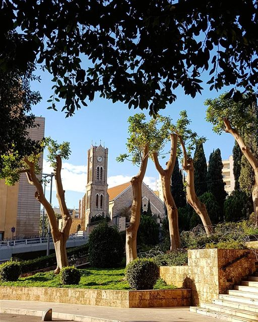 The Cold Green Blues of Beirut..🍃 beirut winter  light morning... (Downtown Beirut)