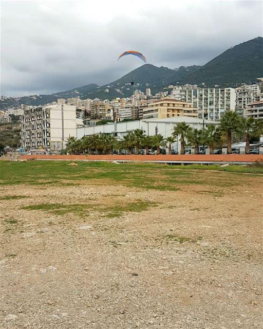 paraglidinginlebanon omarsingeracro flyforfun adrenalime sport sky ... (جونية - Jounieh)