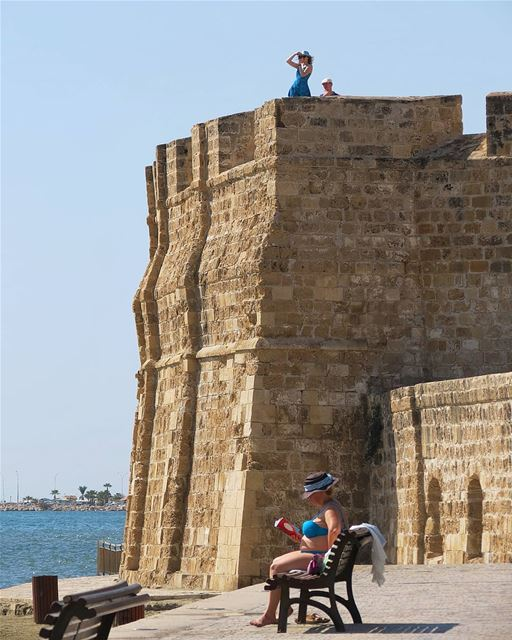 ... Some climb to take a better look 📷While others just enjoy a book 📖- (Larnaca, Cyprus)