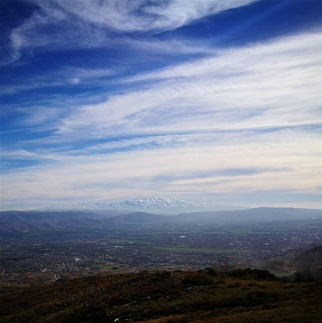Lebanon Lebanonspotlights Bekaa WalkIn Blue Sky Snow ... (Beqaa Valley)