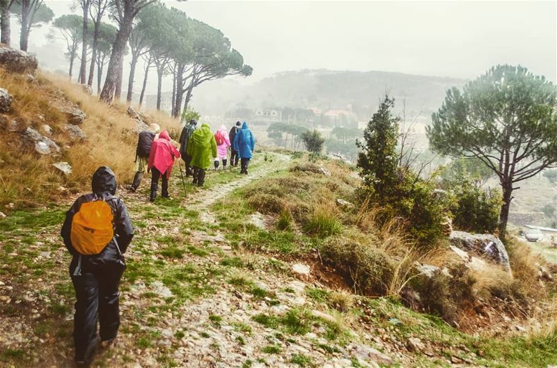 Hiking under the rain Location : Mtein Lebanon earthpix earthofficial ... (El Mtaïn, Mont-Liban, Lebanon)