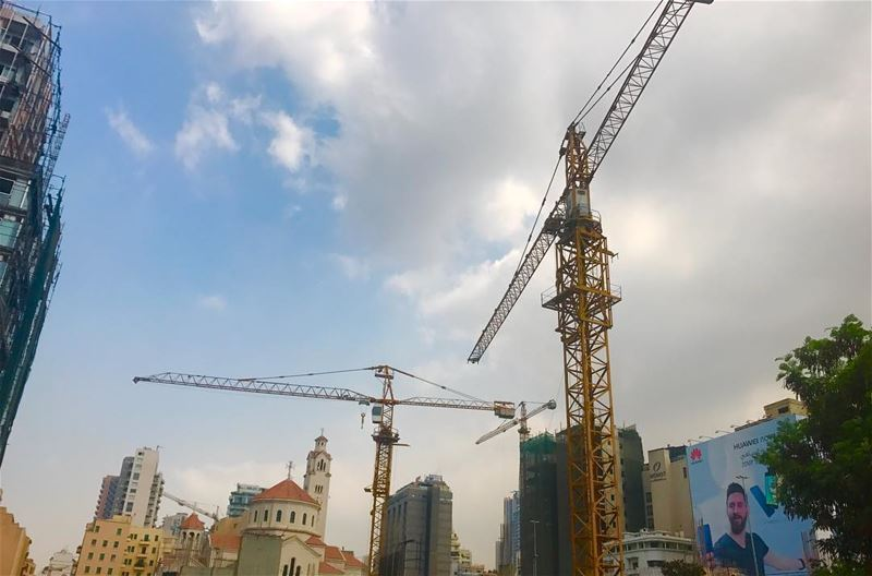 Beirut; ancient city of the future. 🏗 CRANES♥️ (Downtown Beirut)