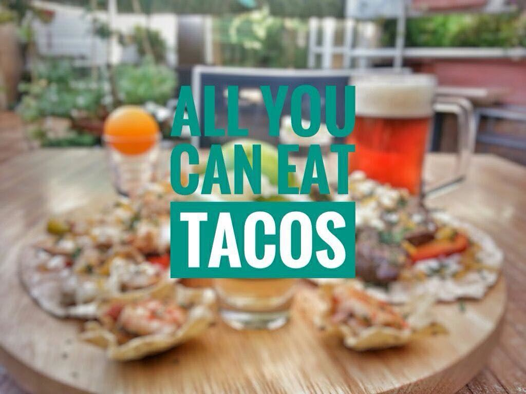 """It's Tonight Taco Lovers! """"ALL YOU CAN EAT TACOS"""" and one local beer and... (Em's cuisine)"""