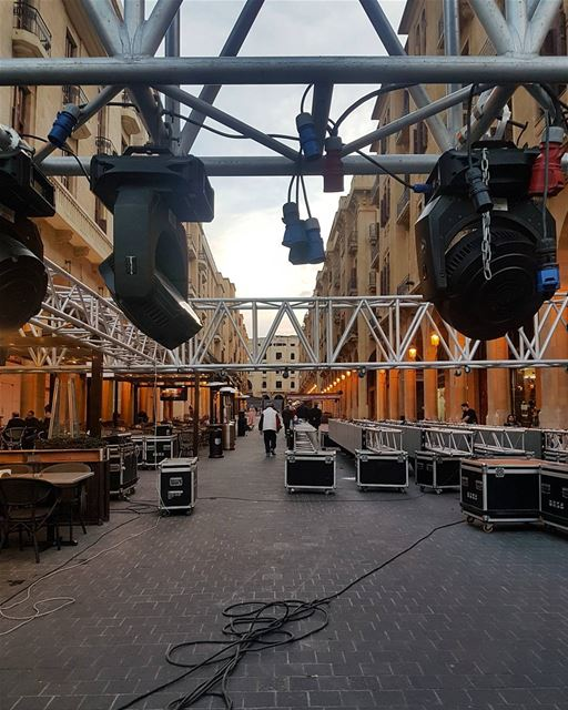 Downtown Beirut preparations for new year celebrations ig_respect ... (Downtown Beirut)