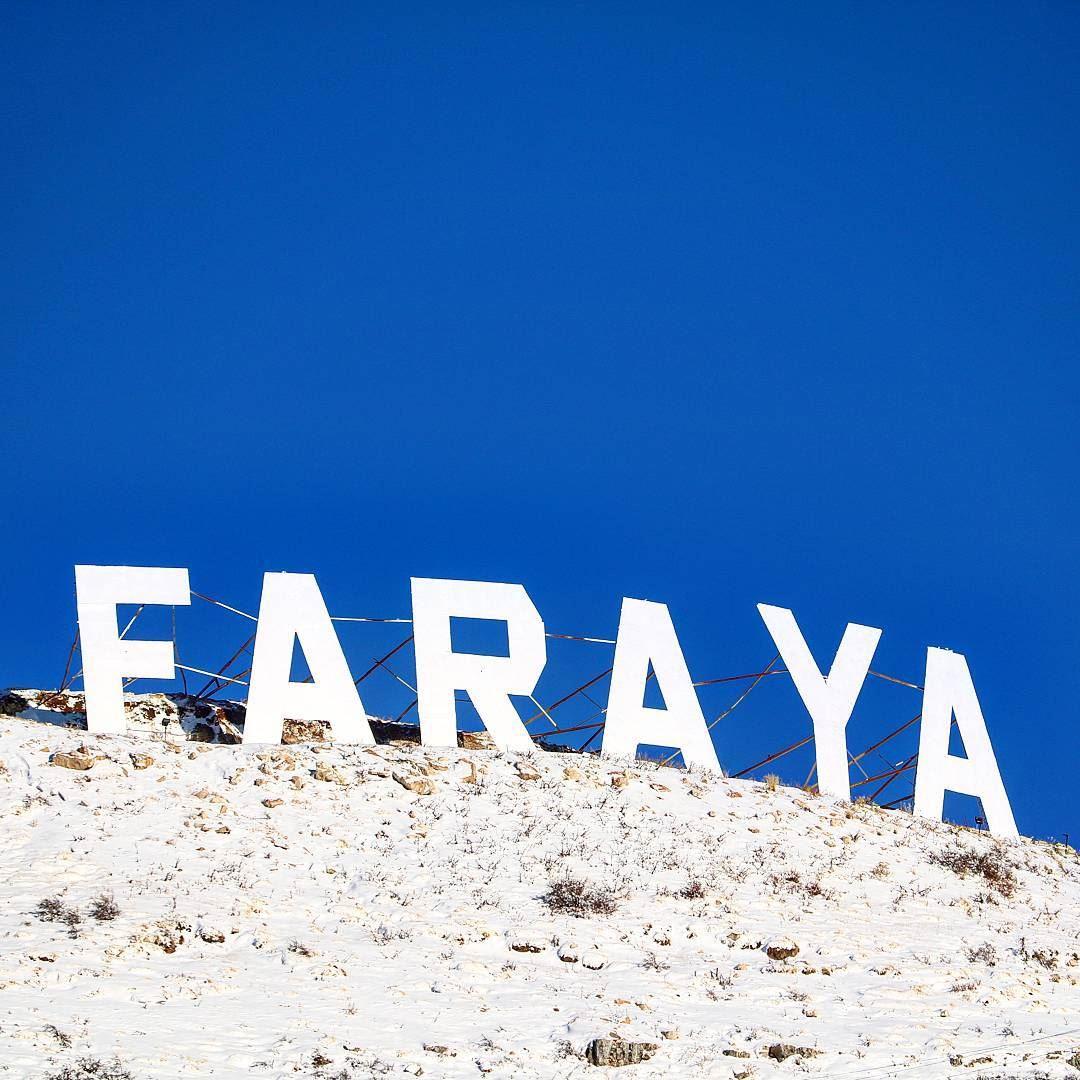 For the sake of he Sign! 🙄... (Faraya, Mont-Liban, Lebanon)