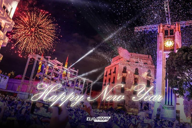 Happy New Year 🎉🎊 BEIRUTCELEBRATES2018 BEIRUT LEBANON NEWYEAR ...