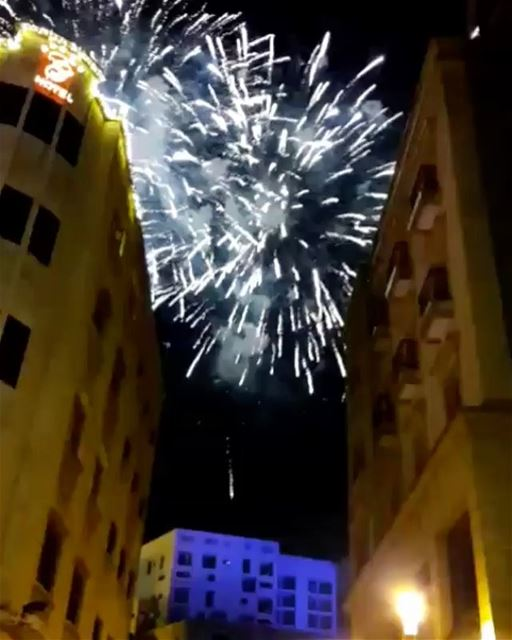 Happy New Year 2018 everyone 💃🕺Video taken by @khaled_yamout 😊... (Downtown Beirut)