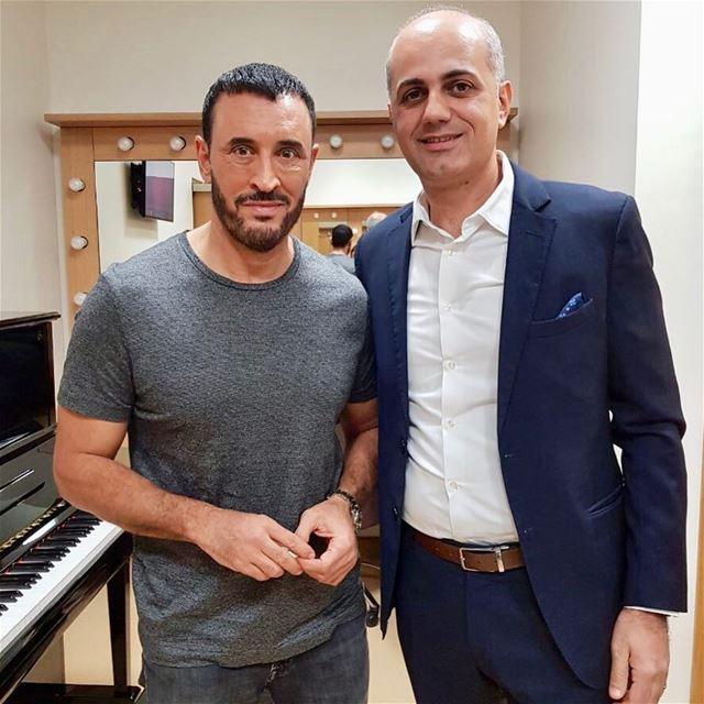 مع القيصر كاظم الساهر . dubai lebanon iraq dubai_opera alrabia1078... (Dubai Opera)