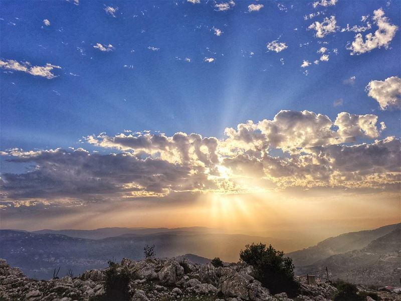 The best sunset view of 2017_______________________________ sunset ... (Mount Lebanon)