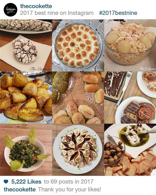 Thank you to every single Liker and Follower 🌸 The Cookette's best nine... (Beirut, Lebanon)
