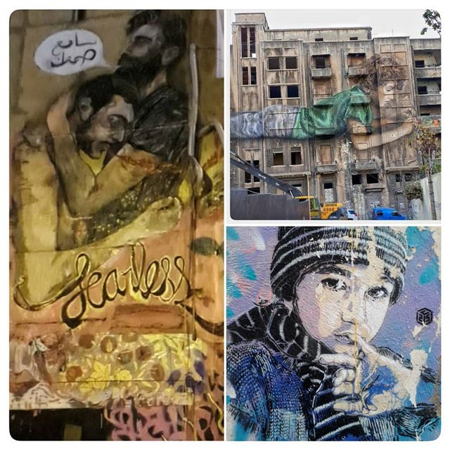 🇱🇧 Few of the best graffiti in beirut, which one do you like ?... (Beirut, Lebanon)