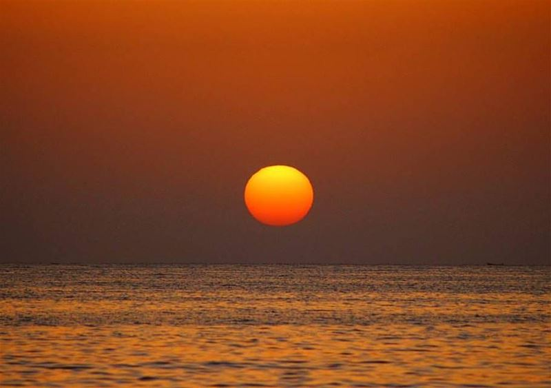 Bidding Farewell! sunset sunsetreflections sunsetphotography ... (Lebanon)