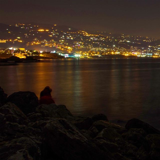 These garlands of lights on the Lebanese shore is the first thing I see as... (Byblos - Jbeil)
