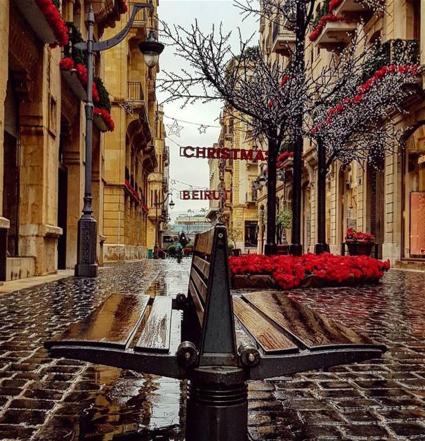The Red got wet before goodbye..🌧🍃❄ beirut january happynewyear ... (Downtown Beirut)