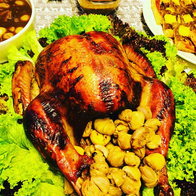 About Last Night. food foodporn turkey dinner party christmas ... (Beirut, Lebanon)