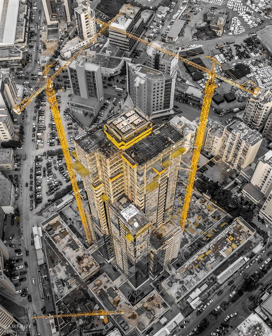 Tower Under Construction ⚠️🚧🛠️... lebanon dekweneh dji drones ... (FortyFour)