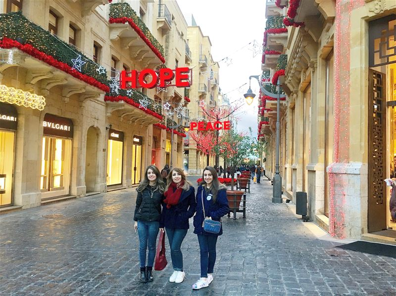 Love Hope Peace 2018 newyear newhope livelovelebanon🇱🇧❤️ (Beirut Souks)
