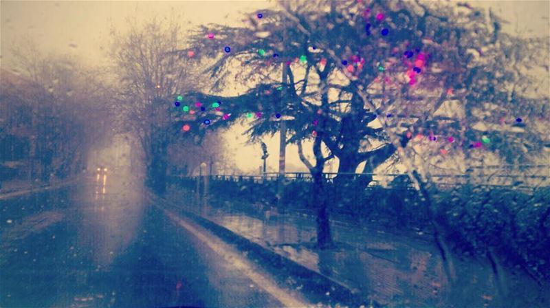 في الْيَوْمَ الذي يلي رأس السنة، كلّ مظاهر الفرح موجودة...لكن دون فرح! كحبي (Sawfar, Mont-Liban, Lebanon)