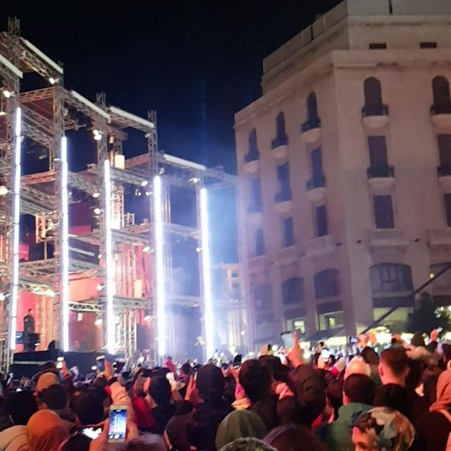 Happy new year beautifullebanon beirutcelebrates2018 livelovebeirut ... (Downtown Beirut)