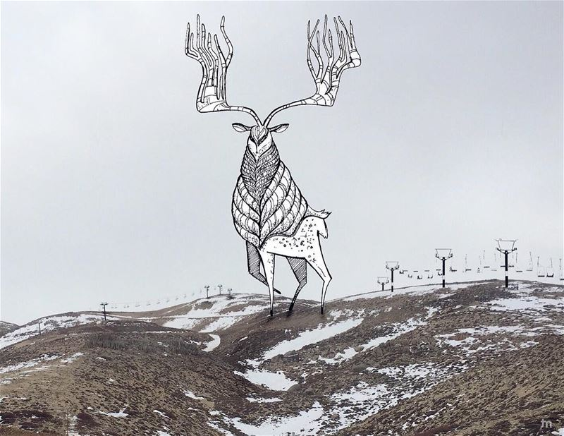 - Winter is here -... faraya livelovefaraya deer positivevibes ... (Mzaar Kfardebian)