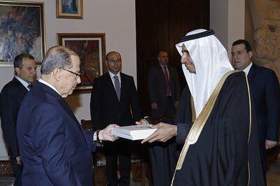 El día de ayer El embajador saudí en el Líbano presentó sus cartas al...