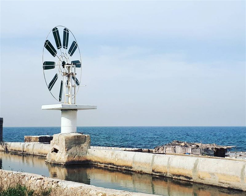 water mill 🛰 anfeh beach beautiful sea lebanon walk relax ... (Anfeh Al-Koura أنفه الكورة)