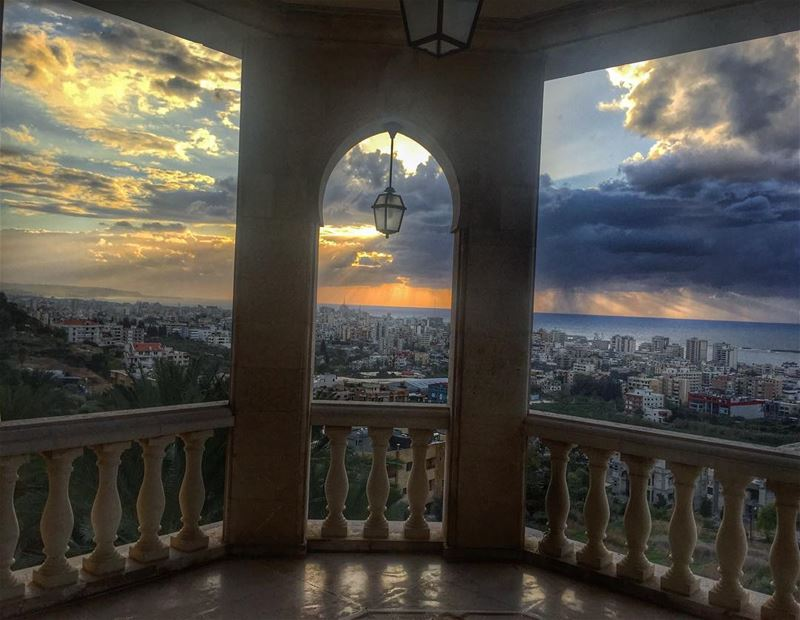 Saida shot.. city lebanon saida view clouds sky landscape architecture... (Lebanon)