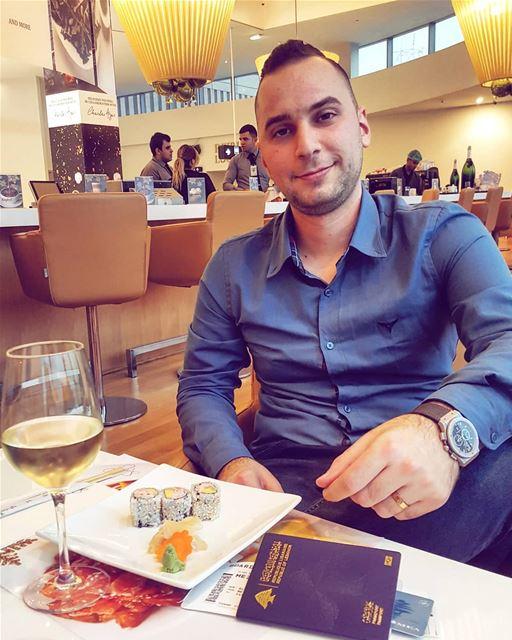 goodbye lebanon trip airport wine sushi ... (Beirut–Rafic Hariri International Airport)