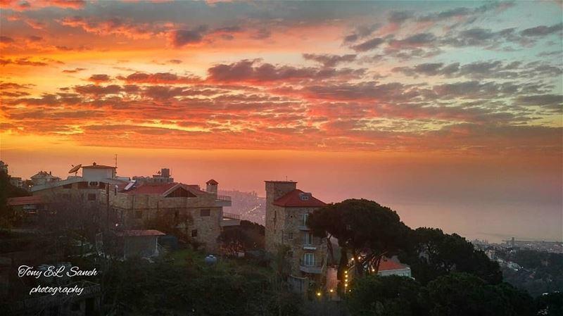 lebanon_hdr lebanoninstagram lebanon sunset sunsets view ... (Broummâna, Mont-Liban, Lebanon)
