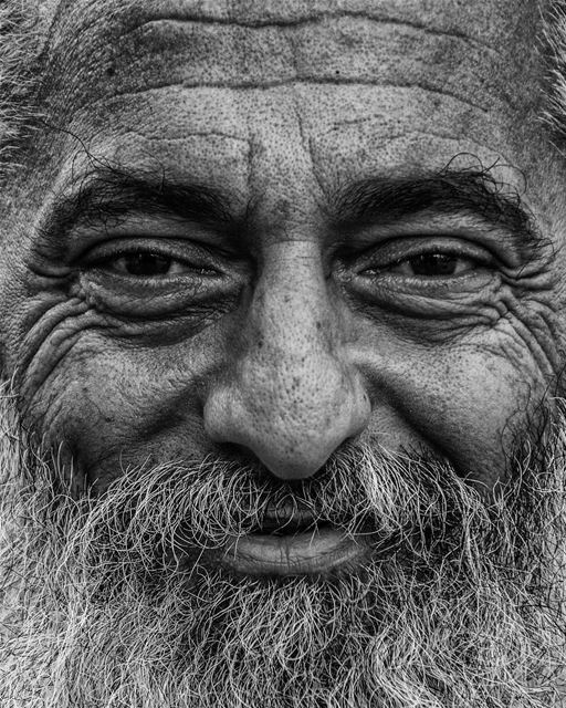 Face language...in blackandwhite a charismatic face from the street of ...