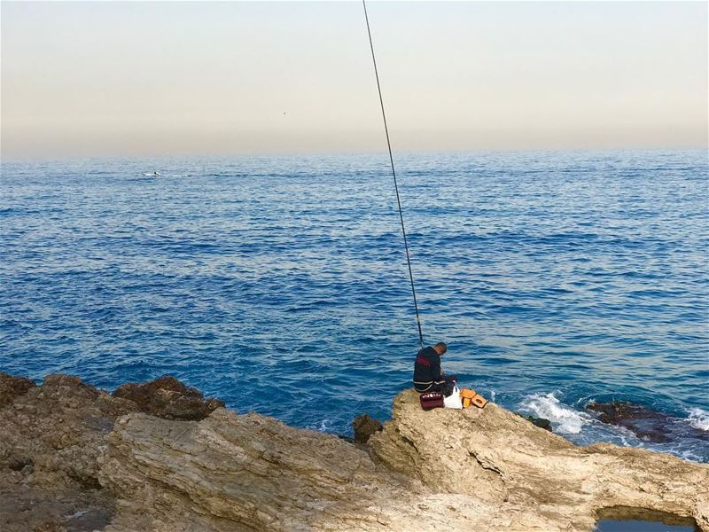 Good morning Beirut! Fishing in Ain El Mreisse... A great start to a... (Ain El Mreisse, Beyrouth, Lebanon)