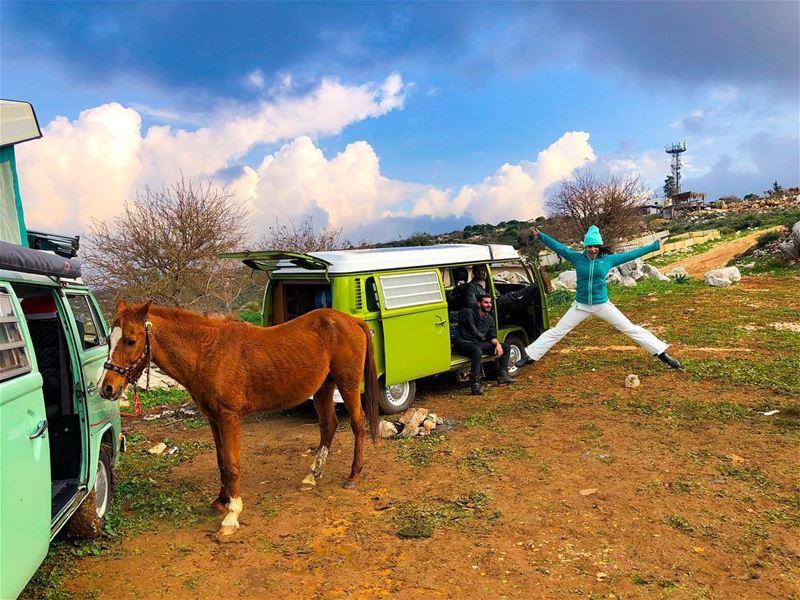 ʜɪɢʜ ᴏɴ ʜᴀᴘᴘɪɴᴇss☁️☁️☁️☁️☁️☁️ campingvan lebanonoutdoor livelovebeirut ... (Koura)