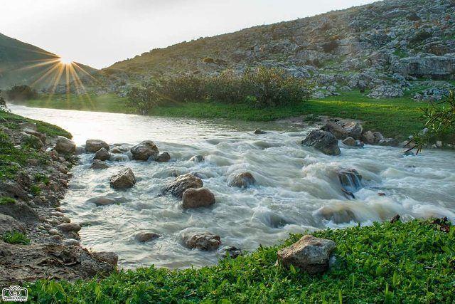 أول لقطة في العام 2018أسعدتم صباحا من حومين_الفوقا river nature sun ...