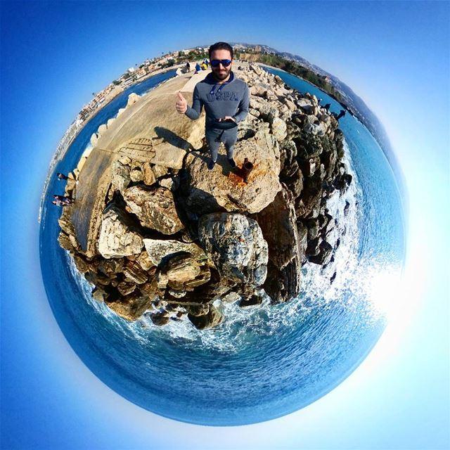 Byblos Tiny Planet 🌍------------------------ me lebanon jbeil byblos... (Byblos, Lebanon)