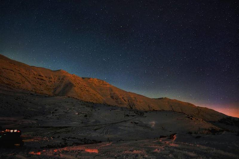 lebanon stars mountains scenery sunsets sunsetlovers sunsetporn ... (Qanat Bakish, Mont-Liban, Lebanon)