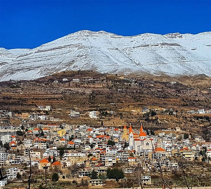 The beautiful village of Bcharre and majestic cedar mountains bcharre ... (Bsharri, Cedars)