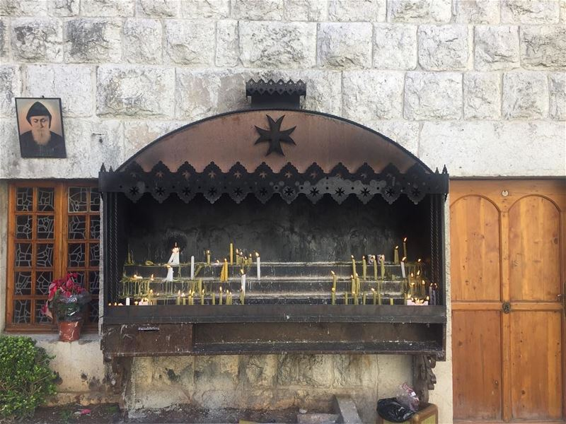 sunday candles prayer serenity faith love hope blessings peace ... (Mar Charbel Church)