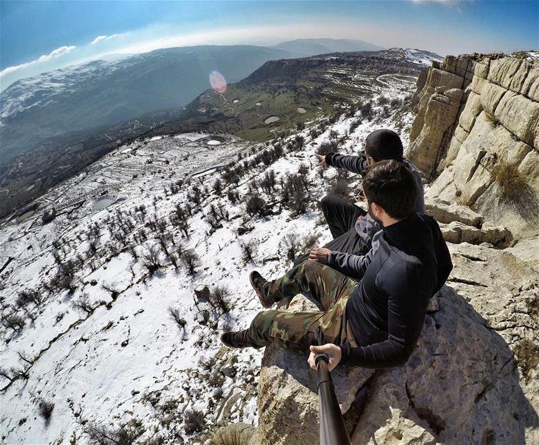 Discussing Global Warming 😅 ExploreWithChris... followme natgeo ... (Qanat Bakish, Mont-Liban, Lebanon)