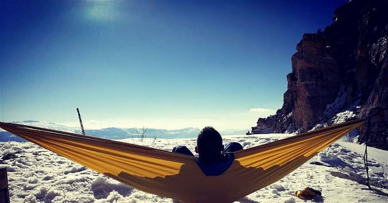 Credit to @paul.c.antoun - snow hammock hammocklife view mountains ...