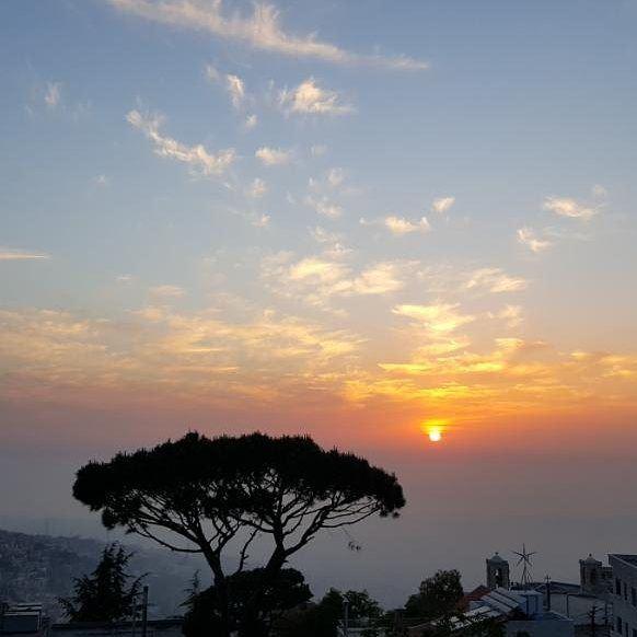 sunset clouds nature pine trees beautiful view viewoflebanon ...