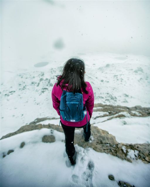 wandering in a winter wonderland with my waterproof @matador.up backpack... (Akoura, Mont-Liban, Lebanon)