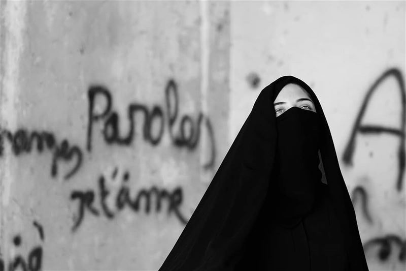 ~ Paroles Paroles Paroles ~... beirut burka portrait portraitart ... (Beirut, Lebanon)
