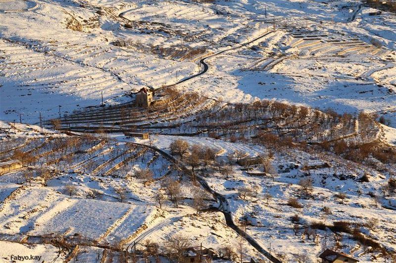 lebanon lebanonspotlights snow igdaily nature naturelovers winter... (Qanat Bakish, Mont-Liban, Lebanon)