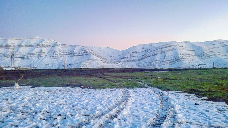 Love mountain. ....... Lebanon  mountains  snow  winter  sunset ... (Lebanon)