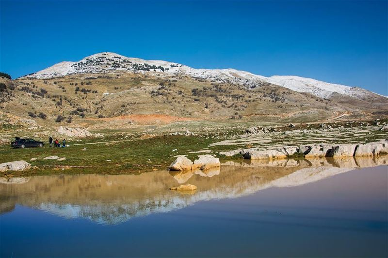 Mirror of Nature...taken from lamartinevalley lebanon the soha mountain...