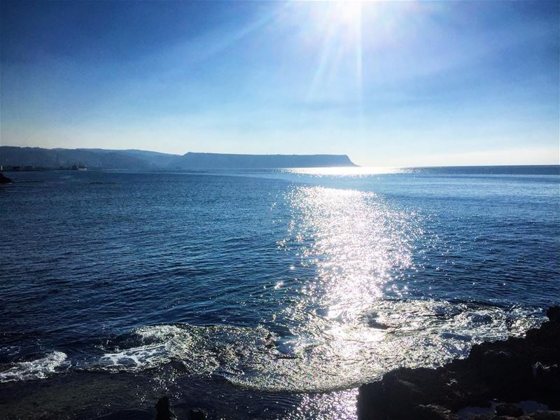 I am happy anywhere I can see the sea sanemood sanelebanon 💙Photo by :