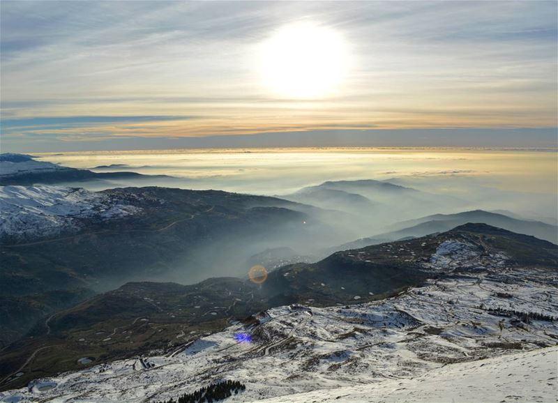 Top of my world ... livelovemzaar breathtaking colors clouds hills ... (Mzaar Kfardebian)