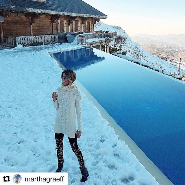 🇱🇧🇧🇷 Modelo brasileira @marthagraeff curtindo o inverno no Líbano! ... (Le Montagnou)