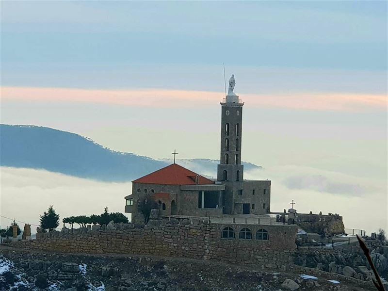 Lebanon lebanonspotlights bekaa majdeltarchich Church Snow ...