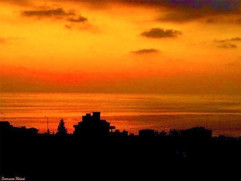 sunset colors nostalgia beautiful sea ...